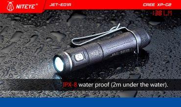 Niteye E01R USB ladbare Taschenlampe für 1x AAA Akku mit 138 Lumen – Bild 3