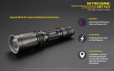 NiteCore SRT7GT Revenger XP-L HI V3 LED Lampe mit SmartRing und Multicolor und UV- LED – Bild 7