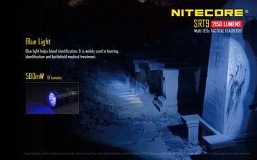 NiteCore SRT9 Revenger XHP50 LED Lampe mit SmartRing und Multicolor LEDs und UV-Licht – Bild 6