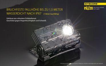 Nitecore NU20 LED Kopflampe mit integrierter Akku aufladbar in verschiedenen Farben – Bild 9