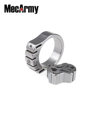 MecArmy SKF2T Titanring Tritium mit Kette und Pendel – Bild 2