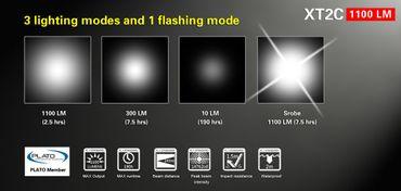 Klarus XT2C mit XP-L Hi LED und Dualswitch mit Akku und Ladegerät – Bild 3