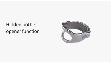 MecArmy SKF3T Titanring mit Kette auch als Flaschenöffner nützlich – Bild 4