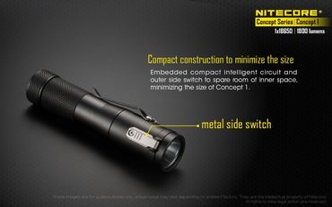 NiteCore Concept 1 Taschenlampe -NEU- super kompakt und megastark mit 1800 Lumen – Bild 4