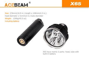 Acebeam X65 mit 5x CREE XHP35HI LED mit 12000 Lumen mit Akkupack – Bild 4