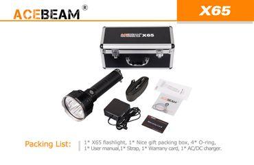 Acebeam X65 mit 5x CREE XHP35HI LED mit 12000 Lumen mit Akkupack – Bild 7