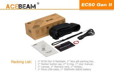 Acebeam EC50 GEN Ⅱ CREE XHP70 CW mit 26650 Akku – Bild 7