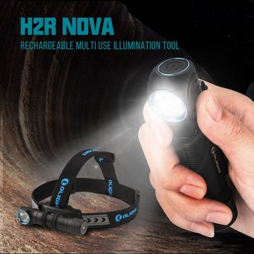 Olight H2R Nova - 2300 Lumen EDC und Head Light - cool white aufladbar! – Bild 3