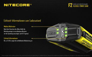 Nitecore F2 Flexbank USB Ladegerät und Powerbank mit bis zu 2 Ah – Bild 3