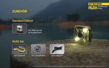 Nitecore NU05 kit LED Kopflampe mit integrierter Akku aufladbar – Bild 8