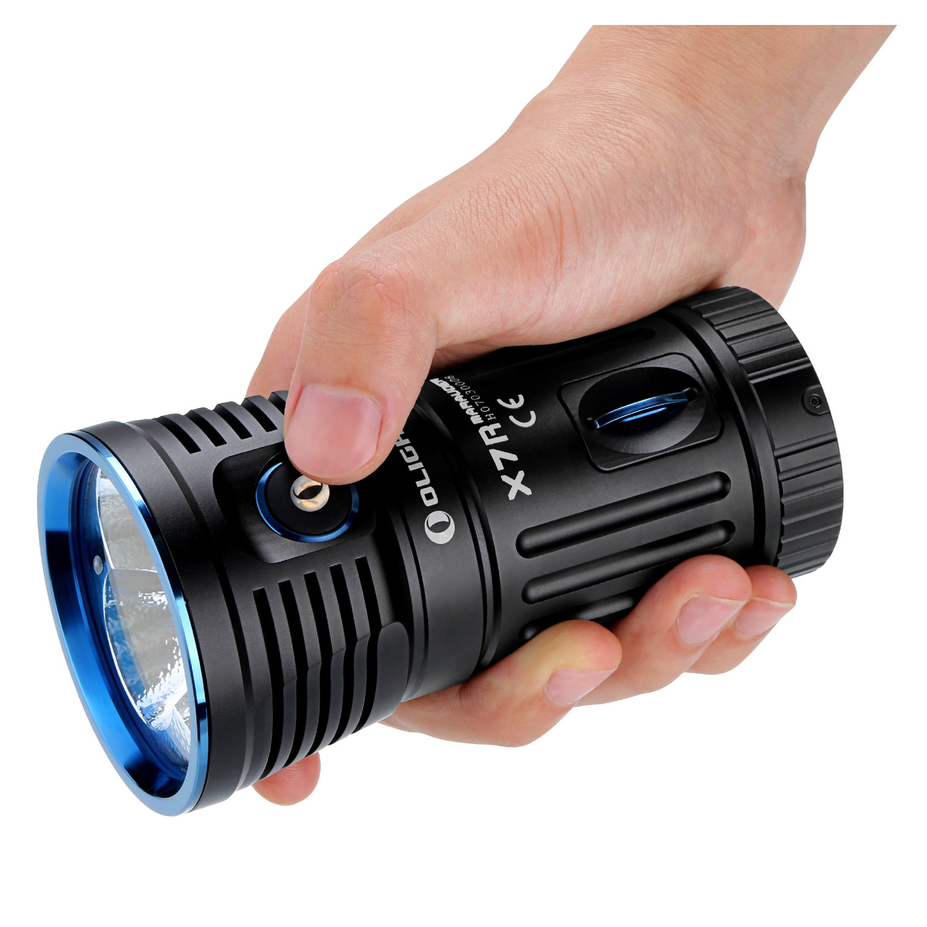 Olight X7R Marauder 3x XHP-70 LED bis 12000 Lumen aufladbar LED ...