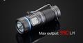Niteye E20R Taschenlampe mit SST 40 N4 BC LED mit USB ladbar für 1X CR123 Batterie