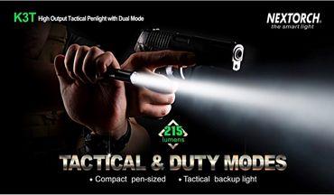 Nextorch K3T Taktische Stiftlampe mit 215 Lumen für 2x AAA Batterie – Bild 4