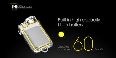 Nitecore TINI aufladbare Schlüsselanhängerlampe 380 Lumen – Bild 5