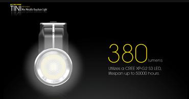 Nitecore TINI aufladbare Schlüsselanhängerlampe 380 Lumen – Bild 3