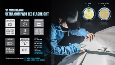 Olight S1 Mini mit 600 Lumen CW - EDC Light – Bild 9