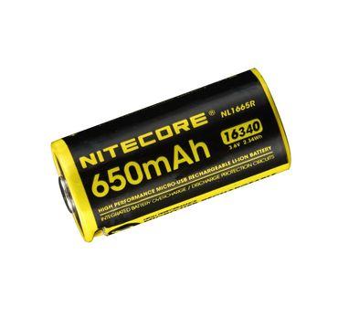 Nitecore Li-Ion Akku Typ 16340 - 650 mAh - NL1665R micro USB aufladbar – Bild 1