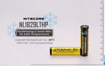 Nitecore Li-Ion Akku Typ 18650 - 2900 mAh - NL18650/29LTHP für tiefe Temperaturen geeignet – Bild 2