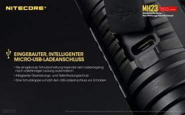 Nitecore Multitask Hybrid MH23 XHP35 HD LED Handthrower 1800 Lumen – Bild 7