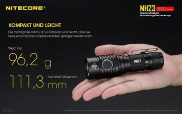 Nitecore Multitask Hybrid MH23 XHP35 HD LED Handthrower 1800 Lumen – Bild 4