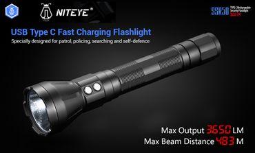 Niteye Jet SSR50 Stab Taschenlampe XH-P 70.2 mit 3650 Lumen – Bild 1