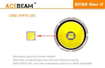 Acebeam EC50 GEN III CREE XHP70.2 CW 6000K mit 26650 Akku – Bild 6