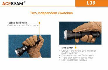 Acebeam L30 mit XHP 70.2 NW LED mit 4000 Lumen für 1x 20700er Akku -ladbar- – Bild 6
