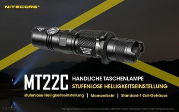 NiteCore MT22C CREE XP-L HD V6 LED 0,5 bis 1000 Lumen - Rotary Switch – Bild 1