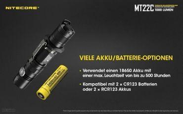 NiteCore MT22C CREE XP-L HD V6 LED 0,5 bis 1000 Lumen - Rotary Switch – Bild 6