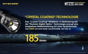NiteCore MT22C CREE XP-L HD V6 LED 0,5 bis 1000 Lumen - Rotary Switch – Bild 7