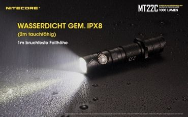 NiteCore MT22C CREE XP-L HD V6 LED 0,5 bis 1000 Lumen - Rotary Switch – Bild 9