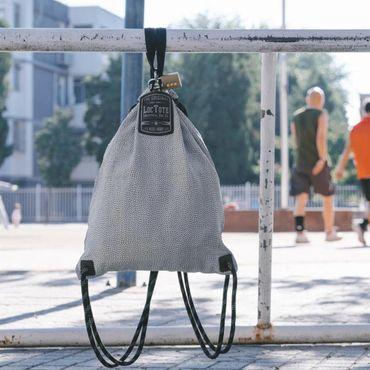 loctote flak sack Sport II - vintage grey - die schnittfeste Diebstahl Schutz Tasche mit Schloss – Bild 8