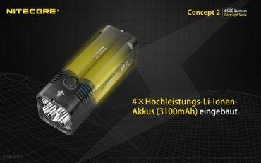 NiteCore Concept 2 Taschenlampe -NEU- super kompakt mit 6500 Lumen – Bild 3