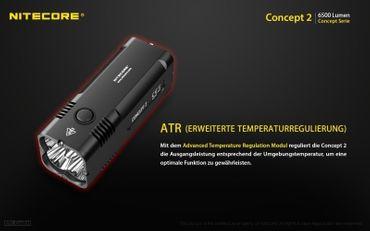 NiteCore Concept 2 Taschenlampe -NEU- super kompakt mit 6500 Lumen – Bild 6
