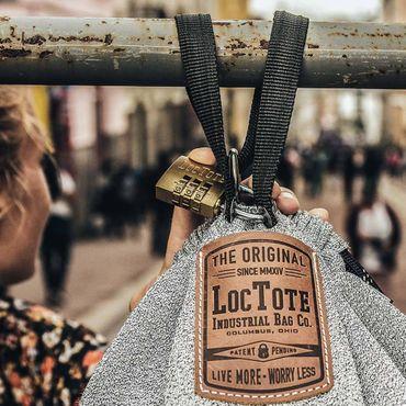Loctote flak sack II grey - die schnittfeste diebstahlsichere Tasche (security bag - safety bag) – Bild 8