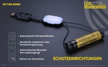 Nitecore LC10 Kabel Ladegerät – Bild 2