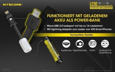 Nitecore LC10 Kabel Ladegerät – Bild 4