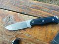 TKF Tanev Family Knive T2J limitiert auf 27 Stk. mit rotem Spacer mit Lederscheide (Vorbestellung) 001