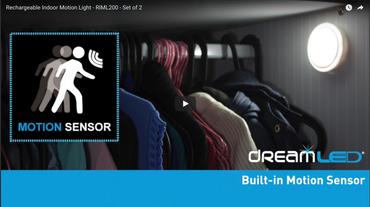 DreamLED Kabellose USB-Sensor-LED-Leuchten aufladbar für Innenräume, 2 Stück – Bild 3