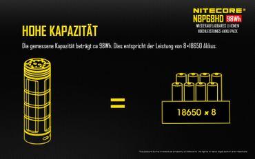 NiteCore Akkugriff BP68HD Taschenlampen-Zubehör Akkugriff für TM11, TM15, TM26, TM36, TM38 – Bild 3