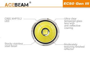 Acebeam EC50 GEN ⅡI CREE XHP70.2 NW mit 26650 Akku 3850 Lumen – Bild 2