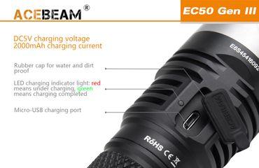 Acebeam EC50 GEN ⅡI CREE XHP70.2 NW mit 26650 Akku 3850 Lumen – Bild 4