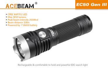 Acebeam EC50 GEN ⅡI CREE XHP70.2 NW mit 26650 Akku 3850 Lumen – Bild 1