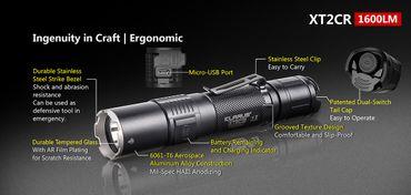 Klarus XT2CR CAMO mit XHP-35 HD E4 LED und Dualswitch – Bild 3