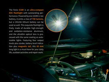 Fenix E18R 750 Lumen mini EDC Taschenlampe aufladbar  – Bild 7
