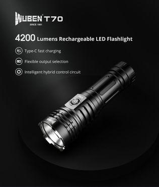 selected-lights Wuben T70 4200 Lumen mit 26650 Akku – Bild 3