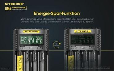 Nitecore UM4 USB 4 Schacht Ladegerät für Li-Ionen Akkus – Bild 9