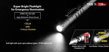 Klarus TP20 Titan Tactical Pen mit LED aufladbar – Bild 2