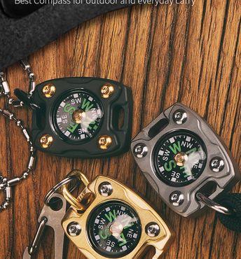 MecArmy CMP2-B Kompass mit Kette aus Messing – Bild 9