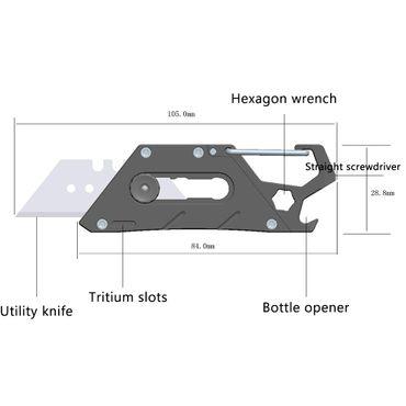 Rovyvon V10 Universalmesser mit Clip EDC MESSER Titanium – Bild 6
